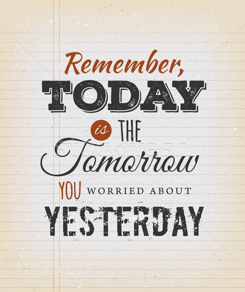 Foto d'archivio: Oggi · domani · ieri · illustrazione