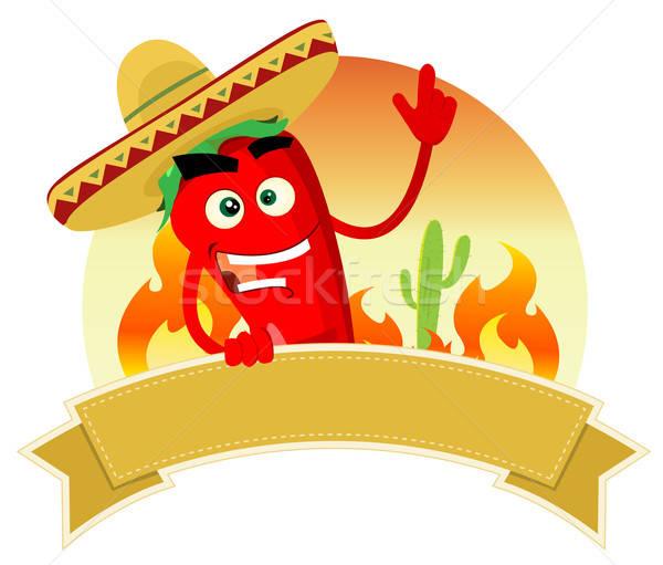 ストックフォト: スパイス · バナー · 実例 · メキシコ料理 · 赤 · ホット