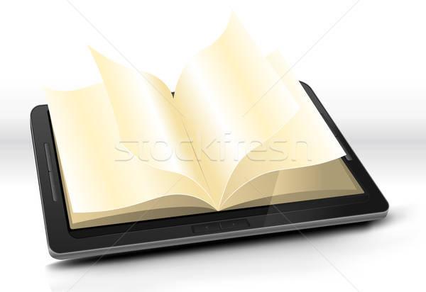 Open boek illustratie ebook effect Stockfoto © benchart