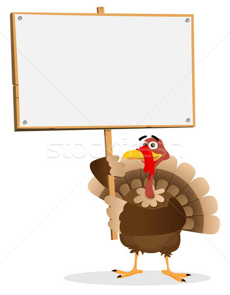 Stock photo: Thanksgiving Turkey Sign