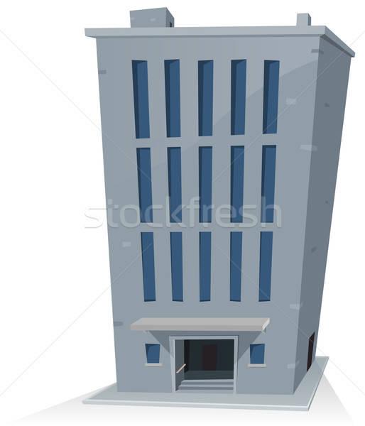 Cartoon kantoorgebouw illustratie toren lang hoog Stockfoto © benchart