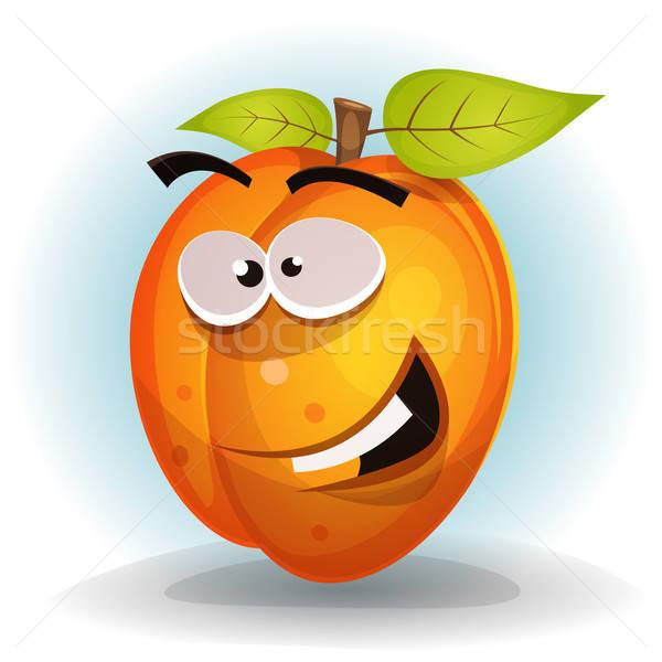 Drôle abricot fruits personnage illustration cartoon Photo stock © benchart