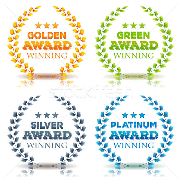 Awards Winning And Laurel Leaves Set Stock photo © benchart