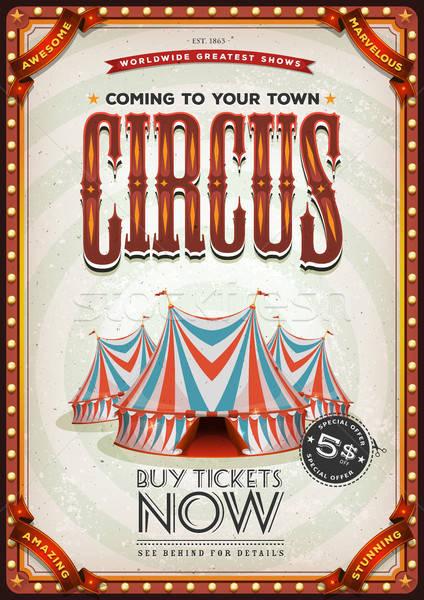 Vintage Old Circus Poster Stock photo © benchart