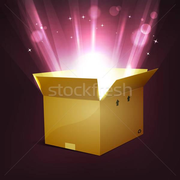 Férias brilhante magia apresentar ilustração desenho animado Foto stock © benchart