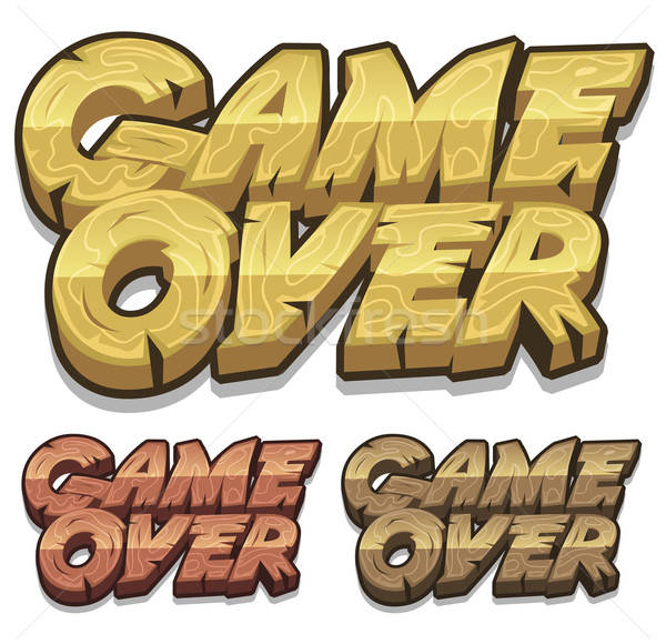 Stock photo: Cartoon Game Over Icon For Ui Game