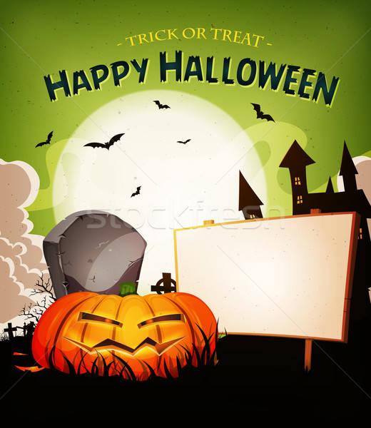Halloween Holidays Landscape Background Stock photo © benchart