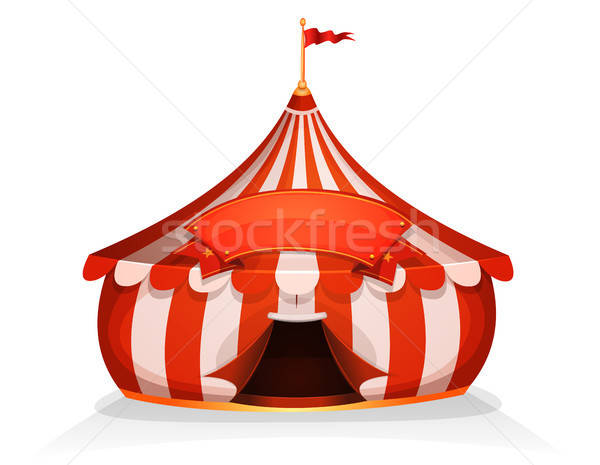 Big Top Little Circus Tent With Banner Stock photo © benchart