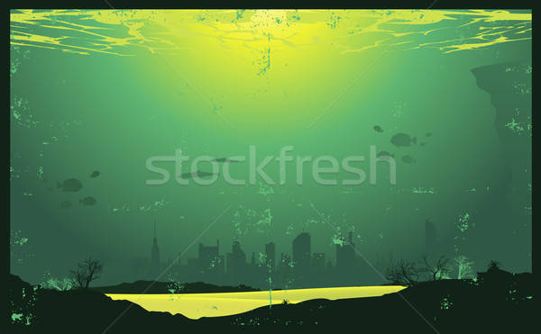 Grunge Urban Underwater Urban Landscape Stock photo © benchart
