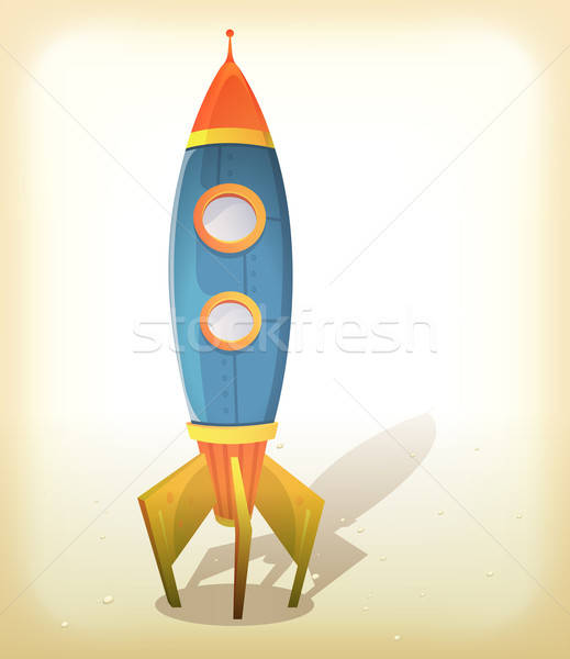 Retro Spaceship Landing Stock photo © benchart