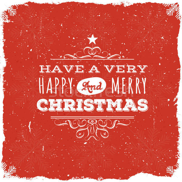 Merry Christmas Postcard Stock photo © benchart