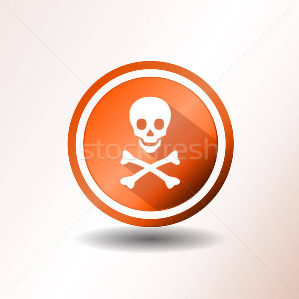 Skull And Crossbones Icon In Flat Design Stock photo © benchart
