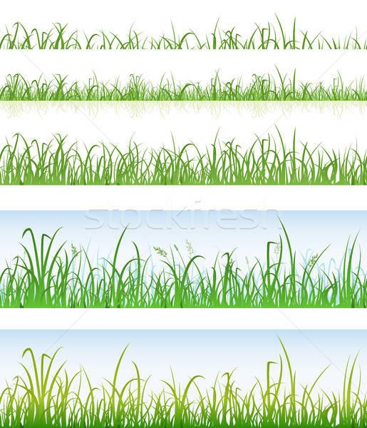 Sin costura hierba verde capas ilustración establecer Foto stock © benchart