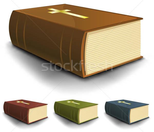 Big Old Holy Bible Books Set Stock photo © benchart