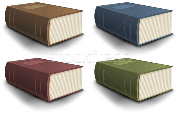 Big Old Book Collection Stock photo © benchart