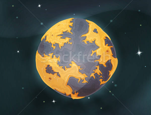 Cartoon Earth Planet On Space Background Stock photo © benchart