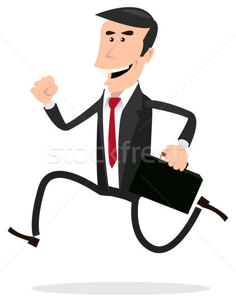 Cartoon Hurried Businessman Stock photo © benchart