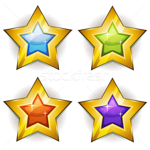 Funny Stars Icons For Ui Game Stock photo © benchart