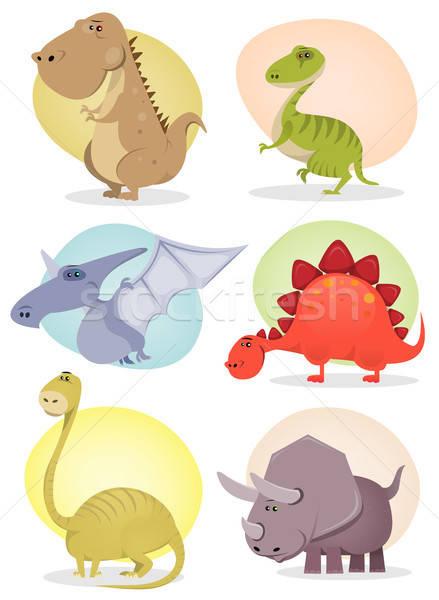 Cartoon Dinosaur Collection Stock photo © benchart