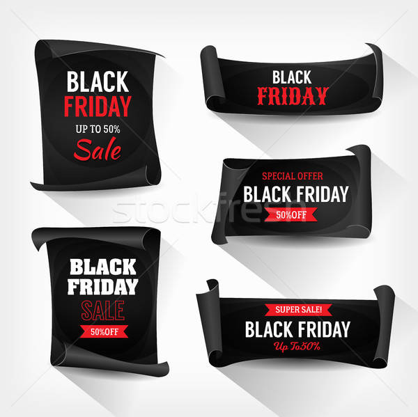 Photo stock: Black · friday · vente · parchemin · illustration