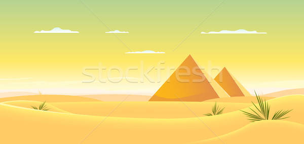 Egyptian Pyramid Stock photo © benchart