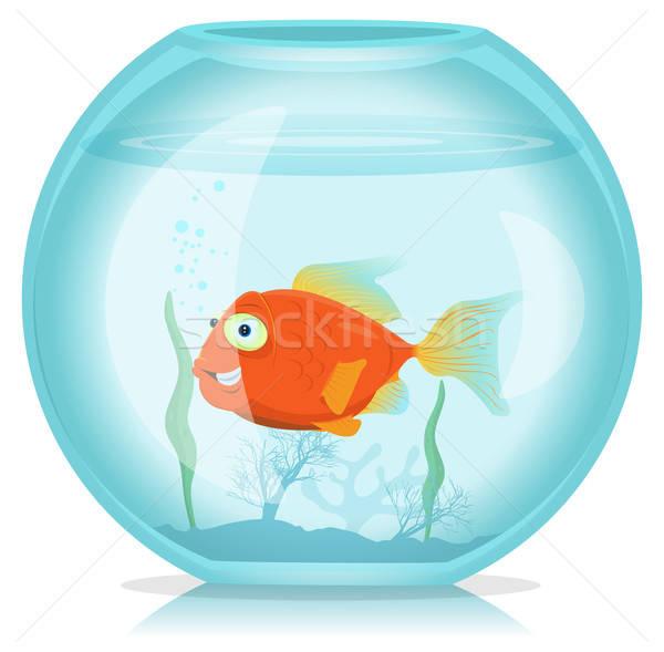 золото рыбы аквариум иллюстрация смешные Cartoon Сток-фото © benchart