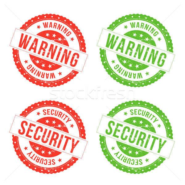 Warning And Security Seals Stock photo © benchart