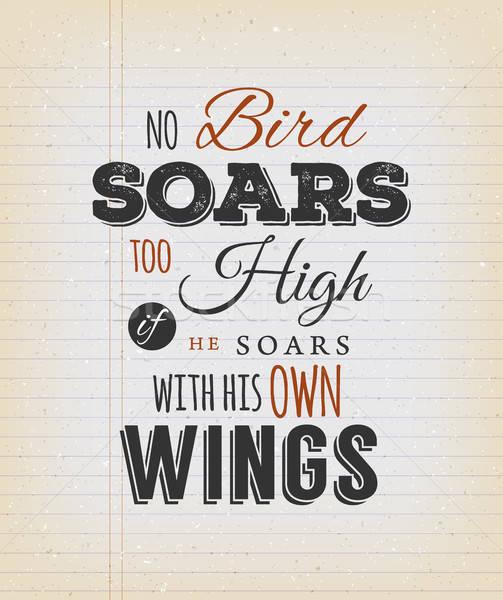 No uccelli alto citare illustrazione Foto d'archivio © benchart