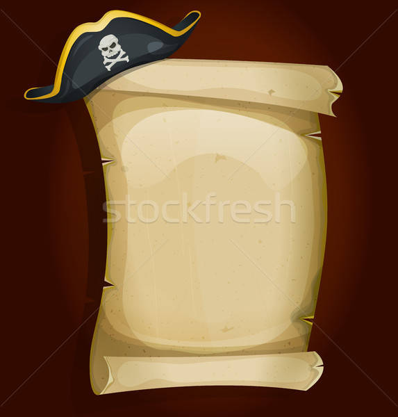 Pirate Hat On Old Parchment Scroll Stock photo © benchart