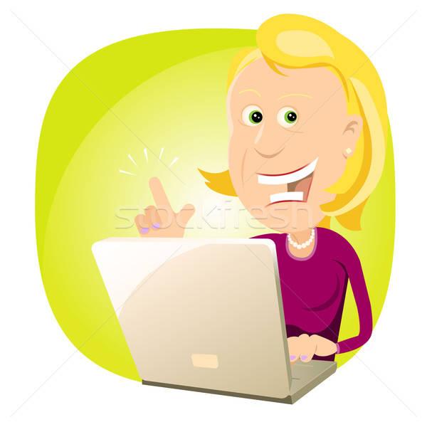 find ideas on the web - Female Stock photo © benchart