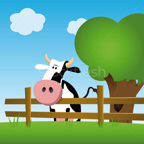 Stock photo: Dairy cow in a field