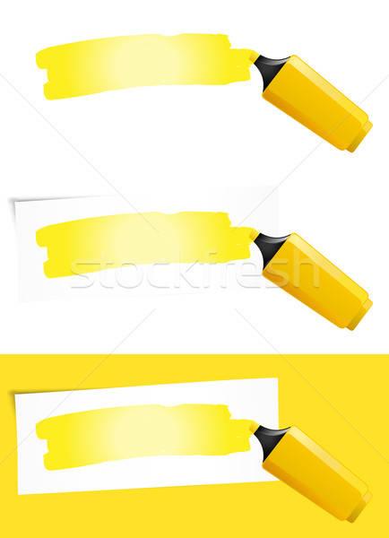 Yellow Felt Tip Pen Stock photo © benchart