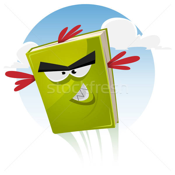 Toon Bird Book Character Flying Stock photo © benchart