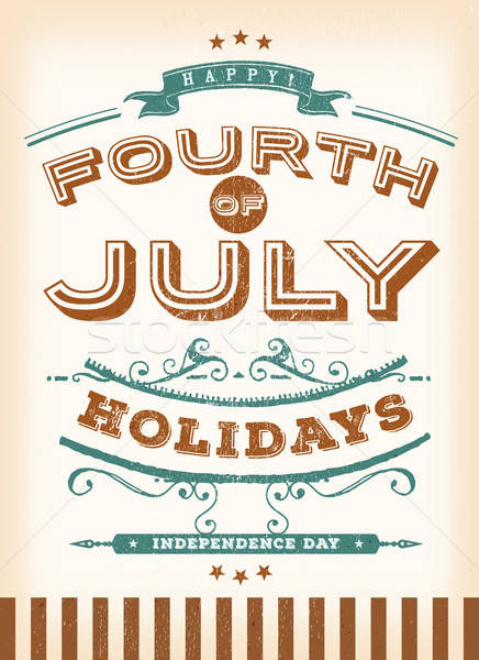 Vintage Fourth Of July Holidays Stock photo © benchart