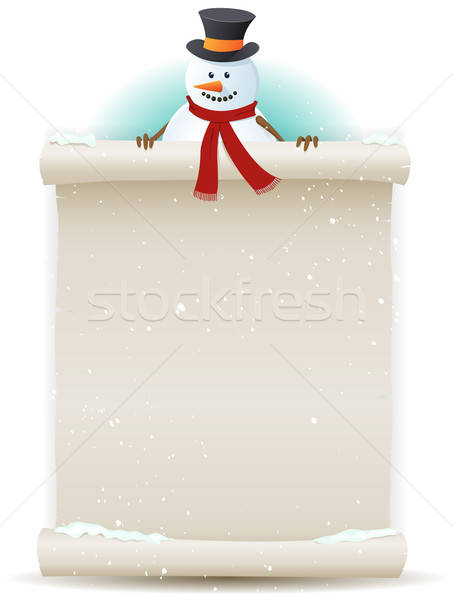 Santa Snowman Background Stock photo © benchart