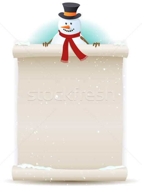 Kardan adam örnek karikatür karakter Stok fotoğraf © benchart