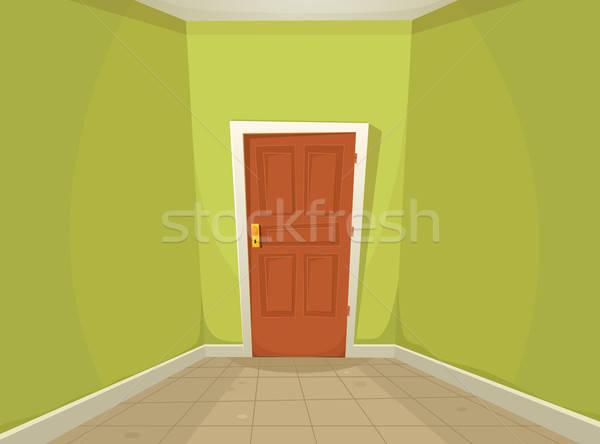 Rejtély szoba illusztráció rajz otthoni iroda folyosó Stock fotó © benchart