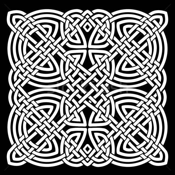 белый черный кельтской мандала иллюстрация черно белые Сток-фото © benchart