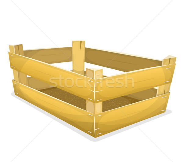 Wood Crate For Grocery Stock photo © benchart