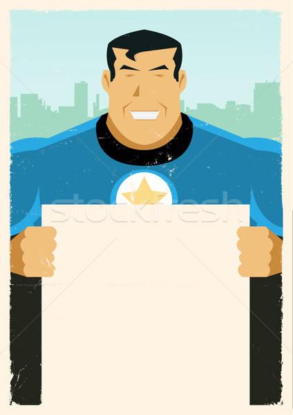 Grunge Super Hero Sign Stock photo © benchart