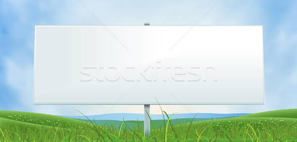 весны лет широкий белый Billboard иллюстрация Сток-фото © benchart