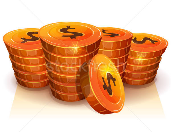 Stack Of Dollar Coins For Game Ui Stock photo © benchart