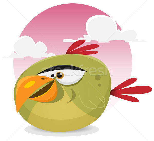 Toon Exotic Bird Stock photo © benchart
