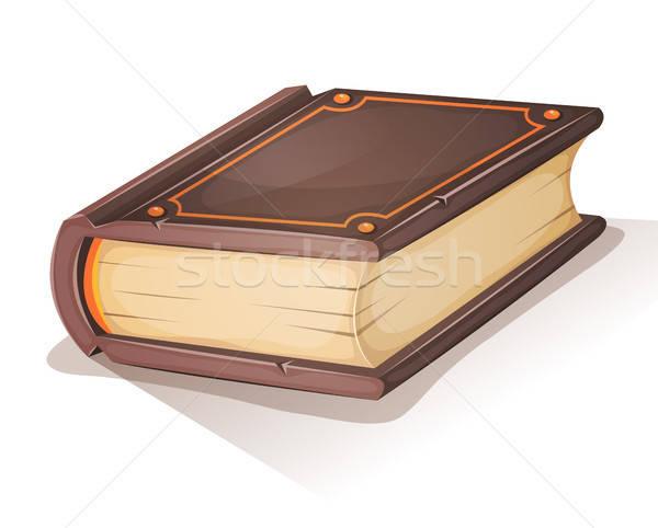 Cartoon oud boek illustratie oude groot boek Stockfoto © benchart