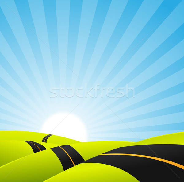 Long Journey Background Stock photo © benchart