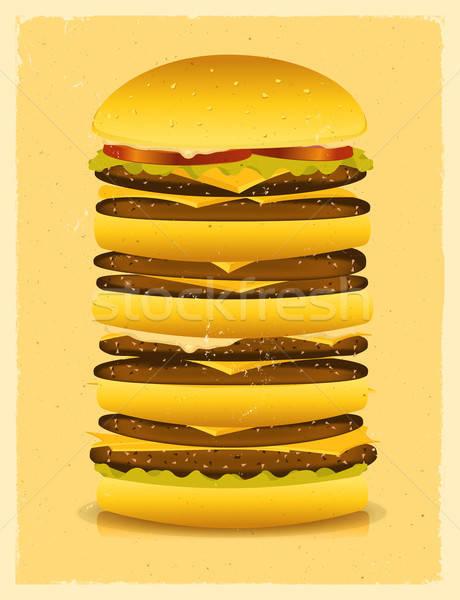 Super Big Burger Stock photo © benchart