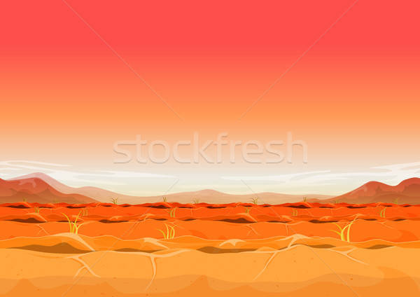 Seamless Far West Desert Landscape For Ui Game Stock photo © benchart