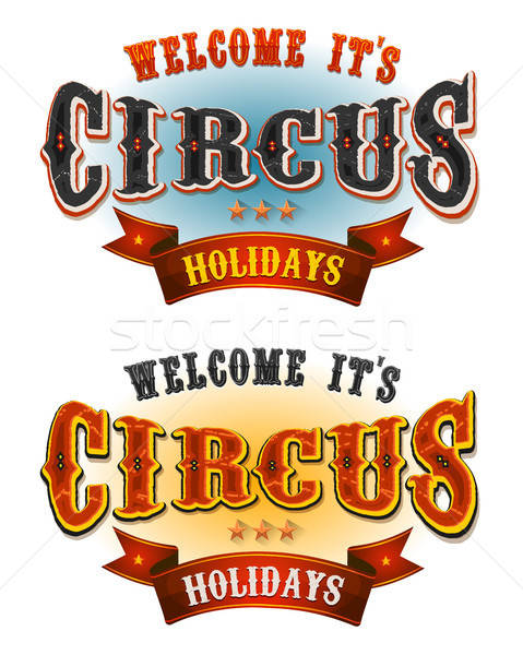 Circus Holidays Welcome Banners Stock photo © benchart