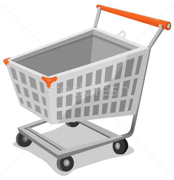 Cartoon winkelwagen illustratie icon ecommerce online winkelen Stockfoto © benchart