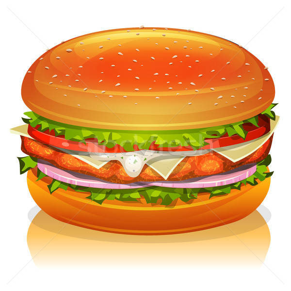Chicken Burger Icon Stock photo © benchart